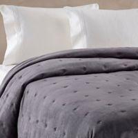 Wamsutta® Vintage Tufted Velvet King Coverlet in Charcoal