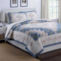 Nostalgia Home™ Meadow Full/Queen Quilt in Ivory/Blue