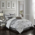 Monique 10-Piece Reversible King Comforter Set in Silver