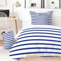 Deny Designs Holli Zollinger Nautical Stripe 5-Piece King Duvet Cover Set in Blue