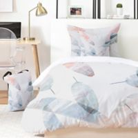 Deny Designs Iveta Abolina Coral Shoreline 4-Piece Twin XL Duvet Cover Set in Pink
