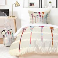 Deny Designs Iveta Abolina Feathered Arrows 5-Piece King Duvet Cover Set in Pink