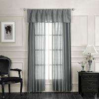 Monique Rod Pocket Straight Window Valance in Silver