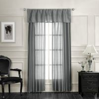 Monique 84-Inch Rod Pocket Window Curtain Panel Pair in Silver