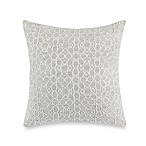 Wamsutta® Vintage Textured Jacquard Square Throw Pillow in Grey