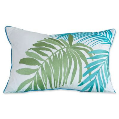 tybee island oblong throw pillow in white