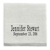 Elegant Baby® Striped Fine Gauge Knit Blanket in Grey