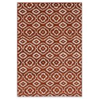 "ECARPETGALLERY La Morocco Diamonds Shag 5'2"" x 7'5"" Area Rug in Copper"