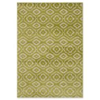 "ECARPETGALLERY La Morocco Diamonds Shag 5'2"" x 7'5"" Area Rug in Light Green"