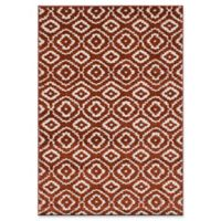 "ECARPETGALLERY La Morocco Diamonds Shag 6'5"" x 9'5"" Area Rug in Copper"
