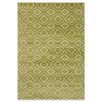"ECARPETGALLERY La Morocco Diamonds Shag 6'5"" x 9'5"" Area Rug in Light Green"