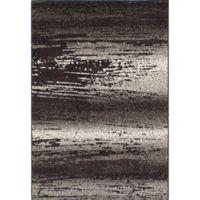 ECarpet Gallery La Morocco Striations Shag 6-Foot 5-Inch x 9-Foot 5-Inch Area Rug in Brown/Grey
