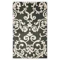 Laura Ashley® Halstead Knit 4-Foot x 6-Foot Area Rug in Grey