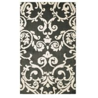 Laura Ashley® Halstead Knit 5-Foot x 8-Foot Area Rug in Grey