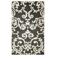 Laura Ashley® Halstead Knit 8-Foot x 11-Foot Area Rug in Grey
