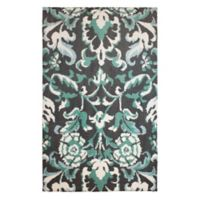 Laura Ashley® Penelope Knit 8-Foot x 11-Foot Area Rug in Blue/Grey