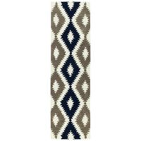 Kaleen Lakota Chatan 2-Foot 3-Inch x 8-Foot Runner in Navy