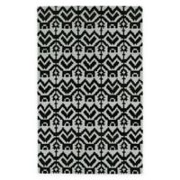 Kaleen Lakota Mankato 9-Foot x 12-Foot Area Rug in Black