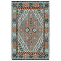 Kaleen Relic Diamond 9-Foot x 12-Foot Area Rug in Grey