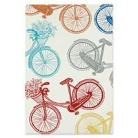 Kaleen Sea Isle Bicycle 9-Foot x 12-Foot Multicolor Indoor/Outdoor Area Rug