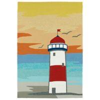 Kaleen Sea Isle Lighthouse 9-Foot x 12-Foot Indoor/Outdoor Area Rug