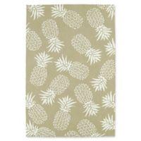 Kaleen Sea Isle Pineapples 9-Foot x 12-Foot Indoor/Outdoor Area Rug in Light Brown