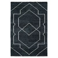 Kaleen Solitaire Shapes 9-Foot 6-Inch x 13-Foot Area Rug in Charcoal