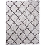 Home Dynamix Oxford Trellis 5-Foot 3-Inch x 7-Foot  Shag Area Rug in Ivory
