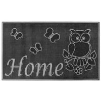 """Storm Stopper 18-Inch x 30-Inch """"Home"""" Welcome Mat in Silver"""