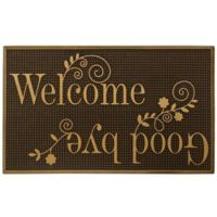 """Storm Trooper 18-Inch x 30-Inch """"Welcome & Goodbye"""" Mat in Gold"""