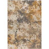 Surya Milamma Abstract Gauze 6-Foot 7-Inch x 9-Foot 6-Inch Area Rug in Orange