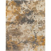Surya Milamma Abstract Gauze 7-Foot 10-Inch x 10-Foot 3-Inch Area Rug in Orange