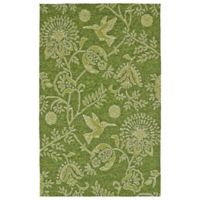 Kaleen Yunque Fantasy 3-Foot x 5-Foot Indoor/Outdoor Area Rug in Green