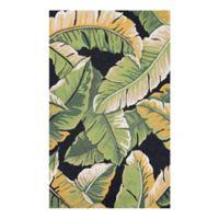 Couristan Covington Rainforest Indoor/Outdoor 3-Foot 6-Inch x 5-Foot 6-Inch Area Rug in Green/Black