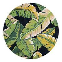 Couristan® Covington Rainforest Indoor/Outdoor 7-Foot 10-Inch Round Area Rug in Green/Black