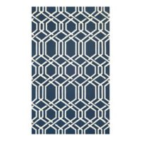 Couristan® Covington Ariatta Indoor/Outdoor 2-Foot x 4-Foot Accent Rug in Navy
