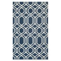 Couristan® Covington Ariatta Indoor/Outdoor 5-Foot 6-Inch x 8-Foot Area Rug in Navy