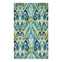 Couristan® Covington Delfina Indoor/Outdoor 2-Foot x 4-Foot Accent Rug in Blue/Yellow