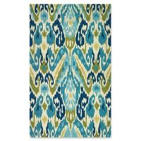 Couristan® Covington Delfina Indoor/Outdoor 5-Foot 6-Inch x 8-Foot Area Rug in Blue/Yellow
