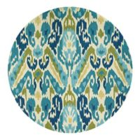 Couristan® Covington Delfina Indoor/Outdoor 7-Foot 10-Inch Round Area Rug in Blue/Yellow
