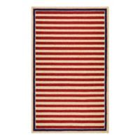 Couristan® Nautical Stripes Indoor/Outdoor 2-Foot x 4-Foot Accent Rug in Red/Navy