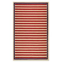 Couristan® Nautical Stripes Indoor/Outdoor 5-Foot 6-Inch x 8-Foot Area Rug in Red/Navy