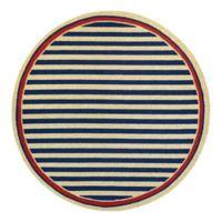 Couristan® Nautical Stripes Indoor/Outdoor 7-Foot 10-Inch Round Area Rug in Navy/Red