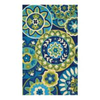Couristan® Covington Riptide Indoor/Outdoor 2-Foot x 4-Foot Accent Rug in Blue