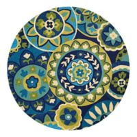 Couristan® Covington Riptide Indoor/Outdoor 7-Foot 10-Inch Round Area Rug in Blue