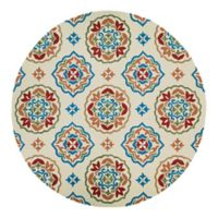 Couristan® Covington San Clemente Indoor/Outdoor 7-Foot 10-Inch Round Area Rug in Red