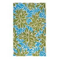 Couristan® Covington Summer Siesta Indoor/Outdoor 2-Foot x 4-Foot Accent Rug in Blue/Green