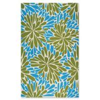 Couristan® Covington Summer Siesta Indoor/Outdoor 5-Foot 6-Inch x 8-Foot Area Rug in Blue/Green