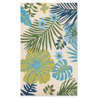 Couristan® Covington Summer Laelia Indoor/Outdoor 5-Foot 6-Inch x 8-Foot Area Rug in Ivory/Green