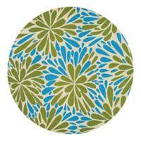 Couristan® Covington Summer Siesta Indoor/Outdoor 7-Foot 10-Inch Round Area Rug in Blue/Green
